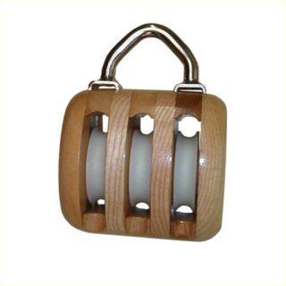 drieschijfsblok hout